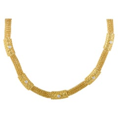 Ilias Lalaounis Diamond and Yellow Gold Collar Necklace