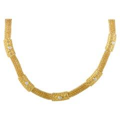 Ilias Lalaounis Diamond and Yellow Gold Collar Necklace