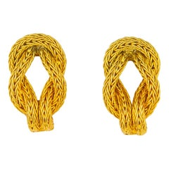 Ilias Lalaounis Gold Hercules Knot Earrings