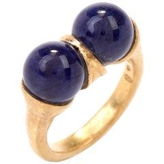 Ilias Lalaounis Lapis Lazuli 18 Karat Goldring