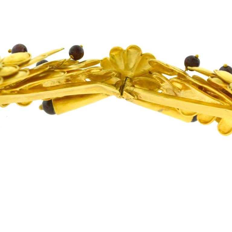 Ilias Lalaounis Large 18 Karat Gold Cabochon Ruby Tiara Choker Necklace For Sale 1