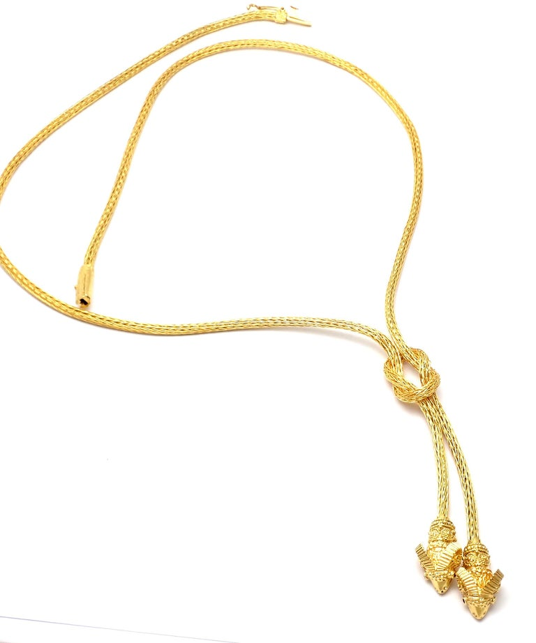 Ilias Lalaounis Ruby Hercules Knot Ram Head Yellow Gold Necklace 5
