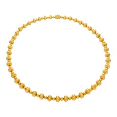 Ilias Lalaounis Spherical and Fluted Bead Necklace, circa 1970s