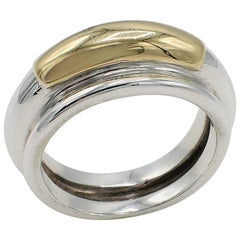 Ilias Lalaounis Sterling Silver and Gold Band Ring