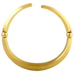 Ilias Lalaounis Yellow Gold Choker Omega Necklace