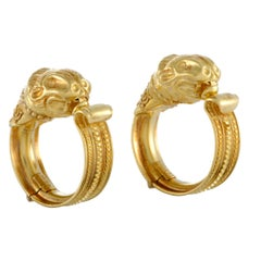 Ilias Lalaounis Yellow Gold Clip-On Earrings