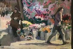 Iliya Mirochnik, Study for composition, 10in x 15in, oil on paper