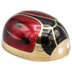Illario Enamel and 18 Karat Gold Ladybug Pill Box