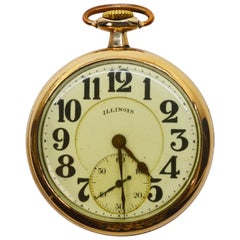 Illinois Bunn Special Brass Pocket Watch with Display Back