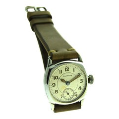 Illinois Nickel Silver Cushion Shaped Watch with Original Dial from 1916