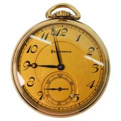 Illinois Watch Company Display Back Pocket Watch