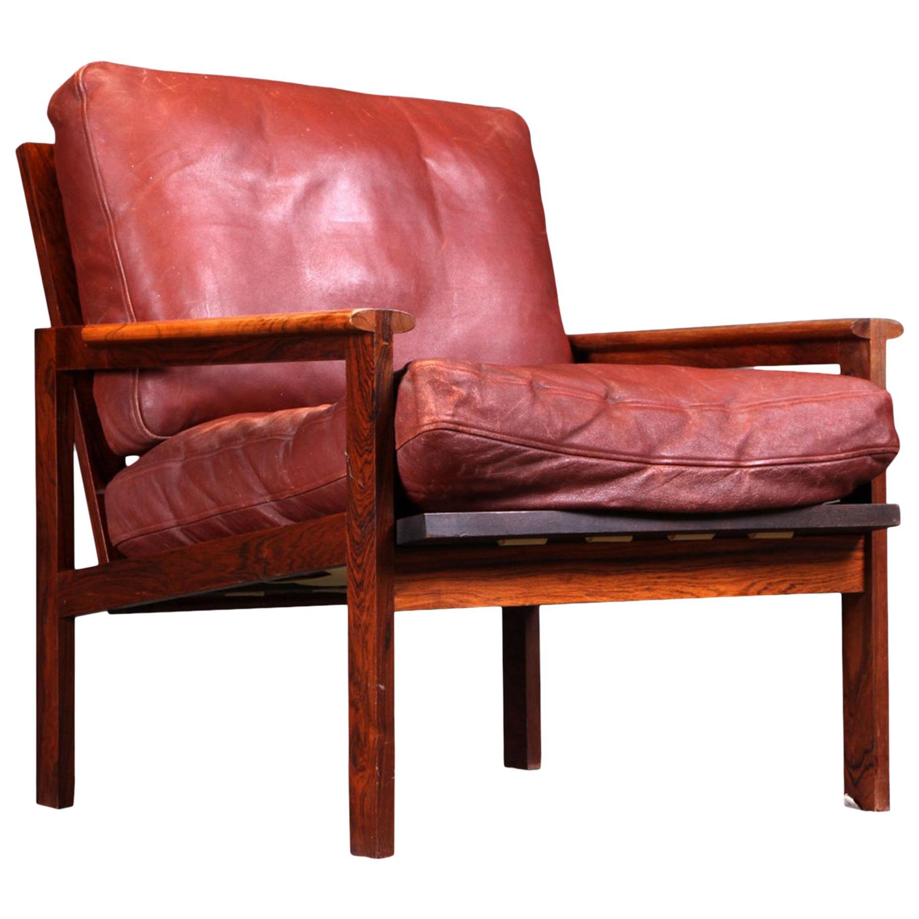 Illum Wikkelsø Capella Lounge Chair in Rosewood