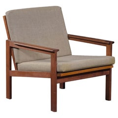 Illum Wikkelsø Capella Lounge Chair in Teak, Produced by N. Eilersen
