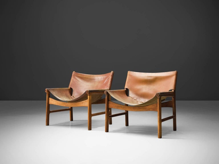 Illum Wikkelsø Easy Chair in Oak and Leather For Sale 2