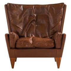 Illum Wikkelsø Easy Chair Model V11 Produced by Holger Christiansen in Denmark