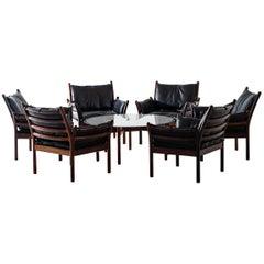 Illum Wikkelsø Easy Chairs Model Genius by CFC Silkeborg in Denmark