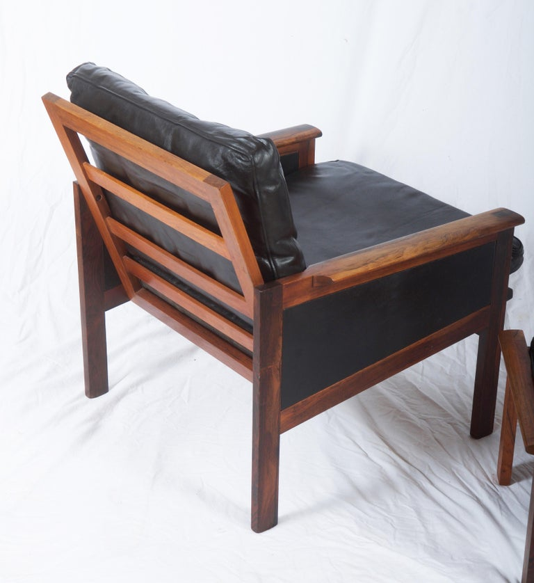 Illum Wikkelsø Easy Chairs with Ottoman Model Capella For Sale 4