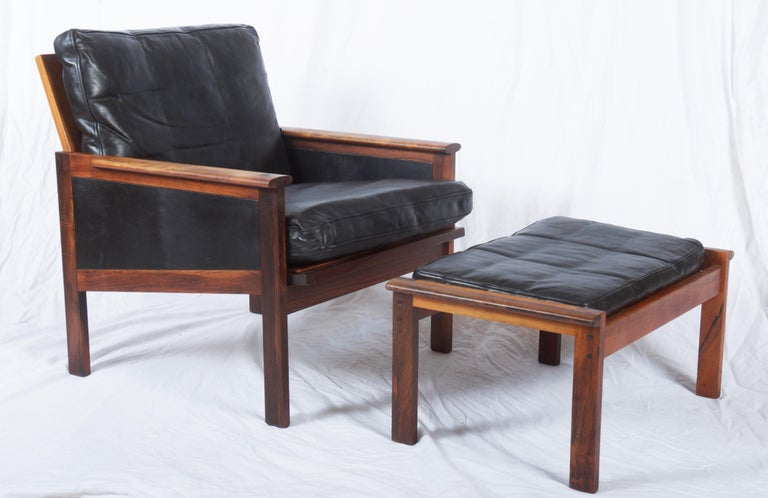 Illum Wikkelsø Easy Chairs with Ottoman Model Capella For Sale 9