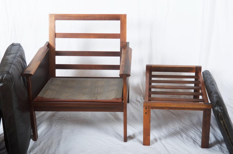 Mid-20th Century Illum Wikkelsø Easy Chairs with Ottoman Model Capella For Sale