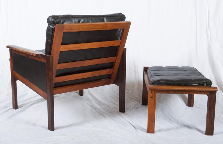 Illum Wikkelsø Easy Chairs with Ottoman Model Capella For Sale 2