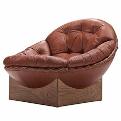 Illum Wikkelsø Lounge Chair in Original Leather and Rosewood