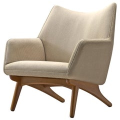 Illum Wikkelsø Lounge Chair with Off-White Upholstery