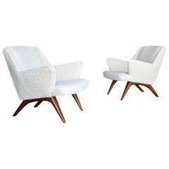 Illum Wikkelsø Lounge Chairs for A. Mikael Laursen & Søn, circa 1960