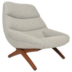 Illum Wikkelsø ML91 Restored Highback Lounge Chair in Oak