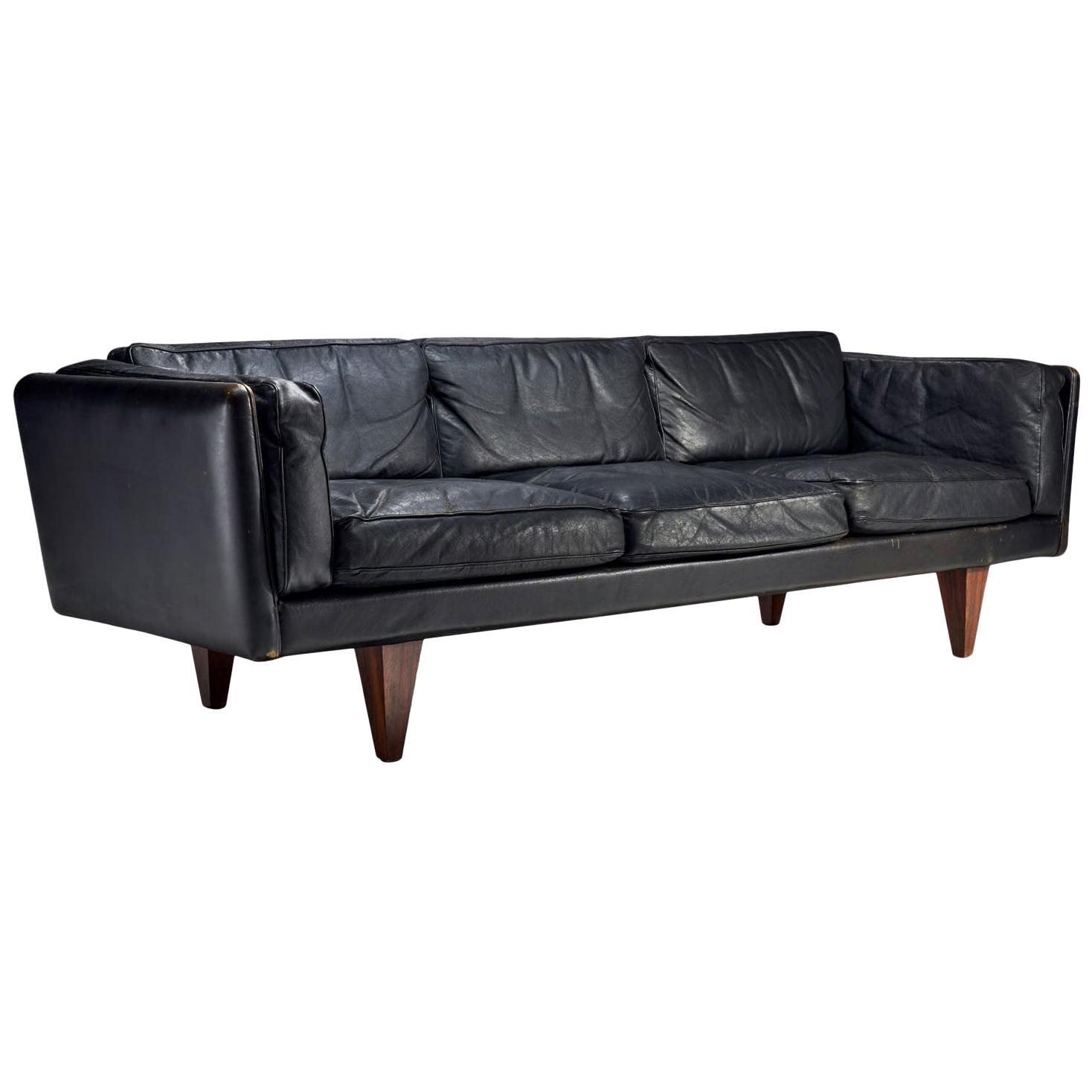 """Illum Wikkelsø """"Model V11"""" Sofa for Holger Christiansen, Denmark, 1960s"""