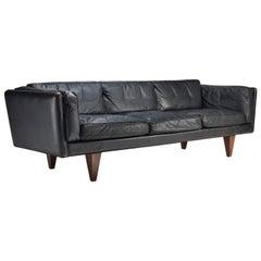 """Illum Wikkelsø """"Model V11"""" Three-Seat Sofa for Holger Christiansen, Denmark"""