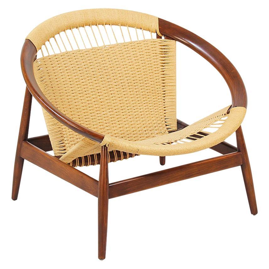 """Illum Wikkelsø """"Ringstol"""" Rope Chair for Niels Eilersen"""