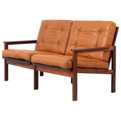 Illum Wikkelsø Scandinavian Modern Leather 'Capella' Sofa