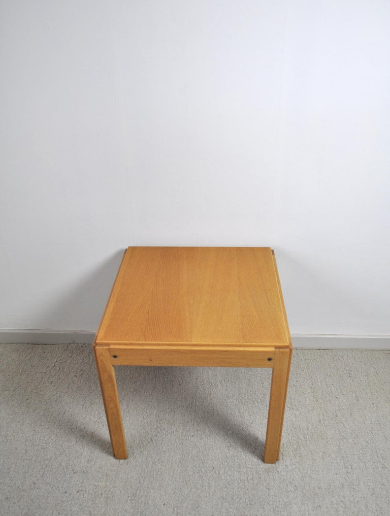 Danish Illum Wikkelsø Side Table in Oak by CFC Silkeborg in Denmark For Sale