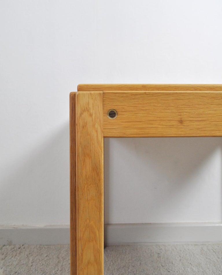 Illum Wikkelsø Side Table in Oak by CFC Silkeborg in Denmark In Good Condition For Sale In Vordingborg, DK