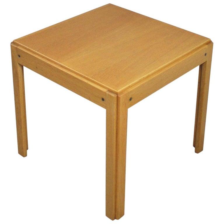 Illum Wikkelsø Side Table in Oak by CFC Silkeborg in Denmark For Sale
