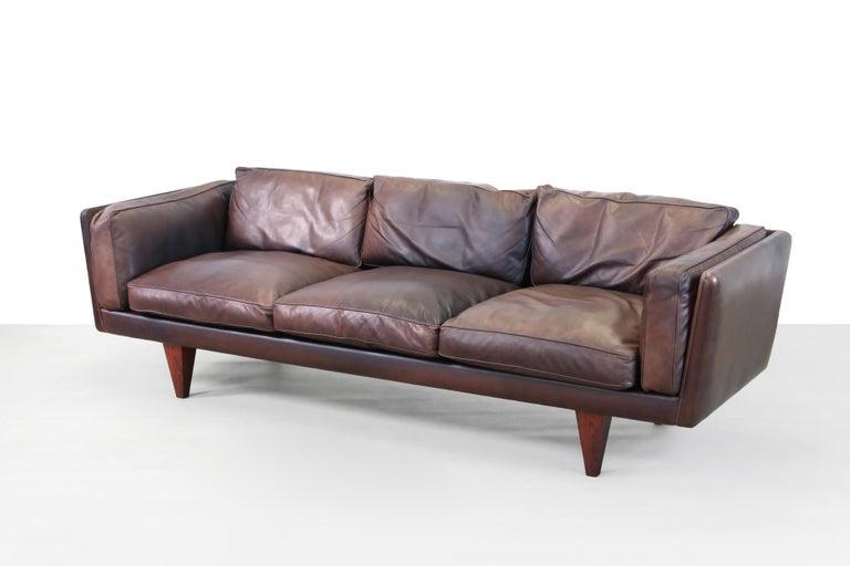 Danish Illum Wikkelsø Sofa Model V11 Produced by Holger Christiansen in Denmark, 1960s For Sale