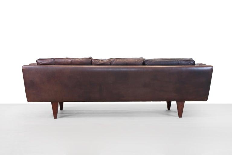 Mid-20th Century Illum Wikkelsø Sofa Model V11 Produced by Holger Christiansen in Denmark, 1960s For Sale