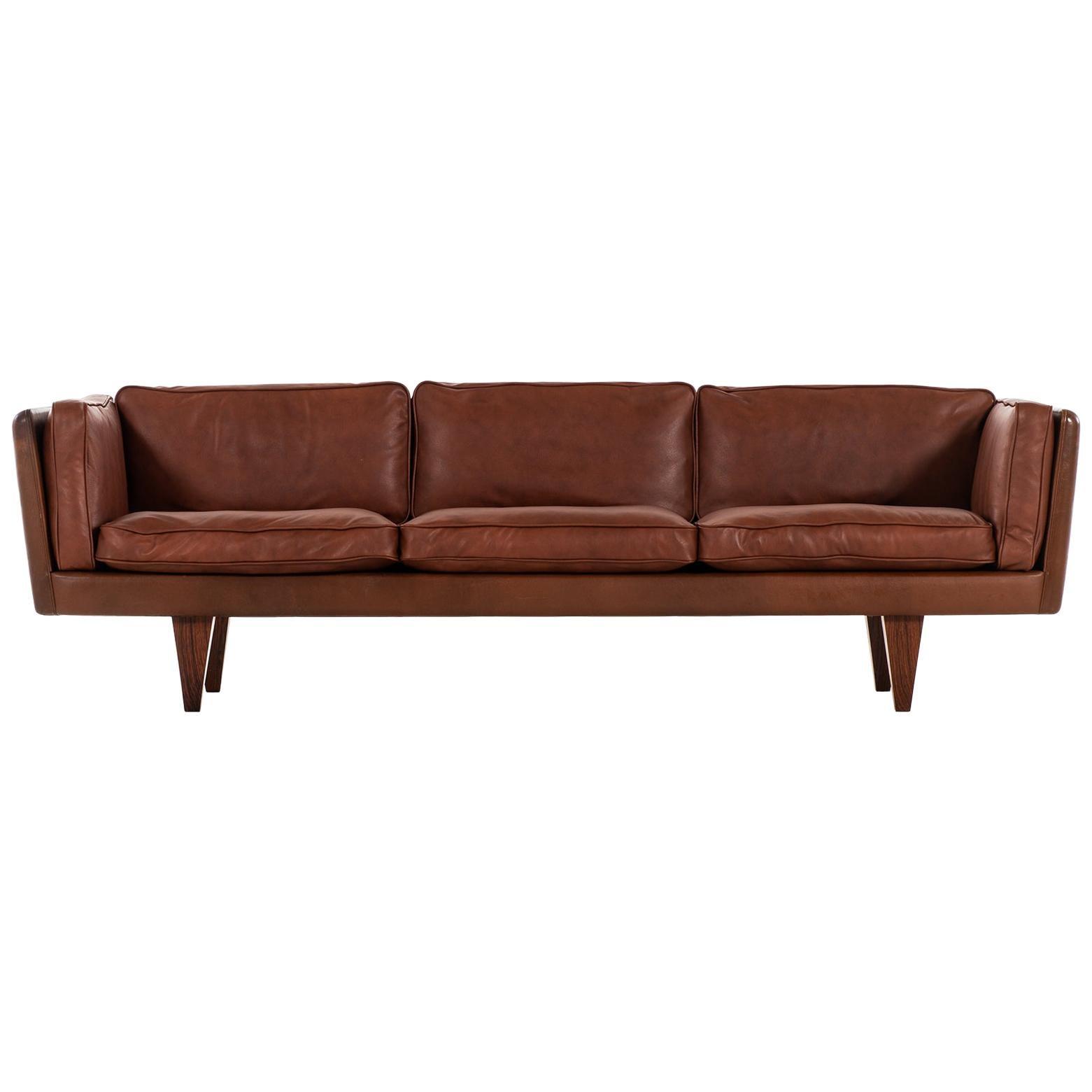 Illum Wikkelsø Sofa Model V11 Produced by Holger Christiansen in Denmark
