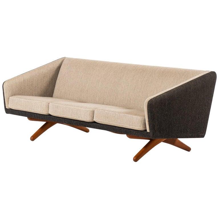 Illum Wikkelsø Sofa Produced by Michael Laursen in Denmark For Sale