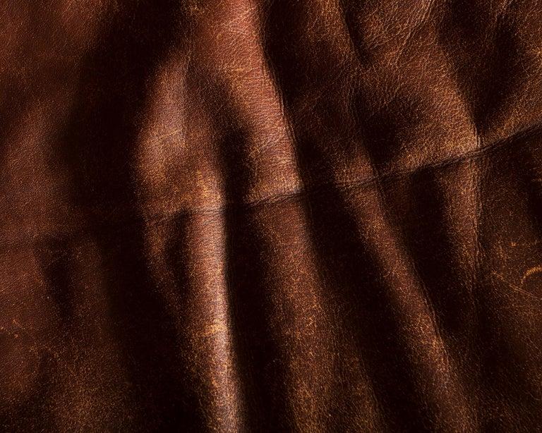 Illum Wikkelsø Sofa V11 in Brown Leather for Holger Christiansen, Denmark, 1960s For Sale 13