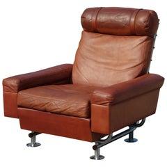 Illum Wikkelsø Steel and Leather Armchair from Ryesberg Furniture Aarhus, 1960