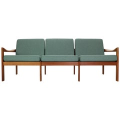 Illum Wikkelsø Three-Seat Teak Sofa for Niels Eilersen, 1960, Denmark