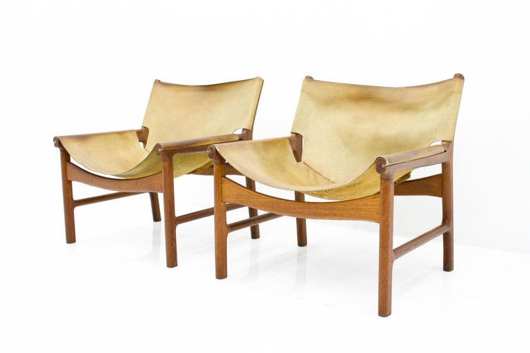 Illum Wikkelso Easy Chair Model 103 in Oak and Leather by Mikael Laursen Denmark 3