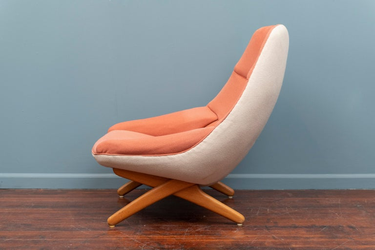 Scandinavian Modern Illum Wikkelso Lounge Chair, Model ML-91 For Sale