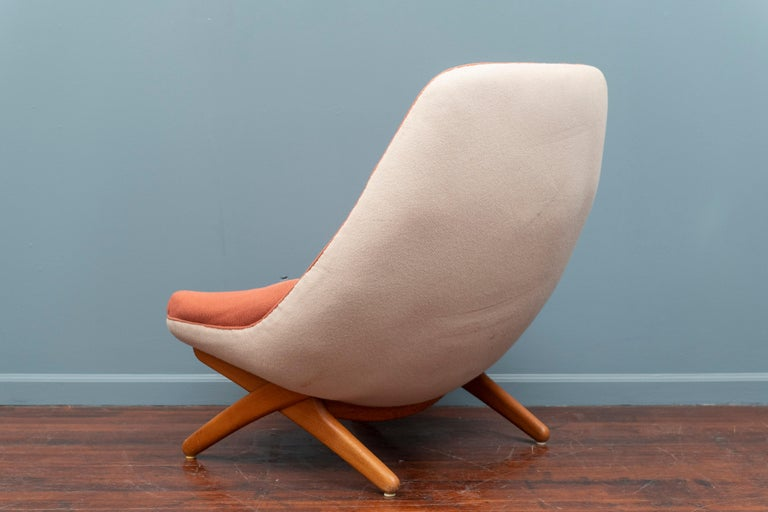 Danish Illum Wikkelso Lounge Chair, Model ML-91 For Sale