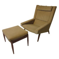 Illum Wikkelso Lounge Chair / Ottoman for Soren Willadsen, Denmark
