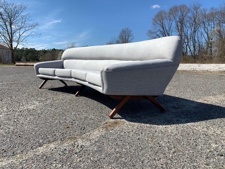 Scandinavian Modern Illum Wikkelso-Mikael Laursen 4-Seat Sofa-Denmark, 1960s