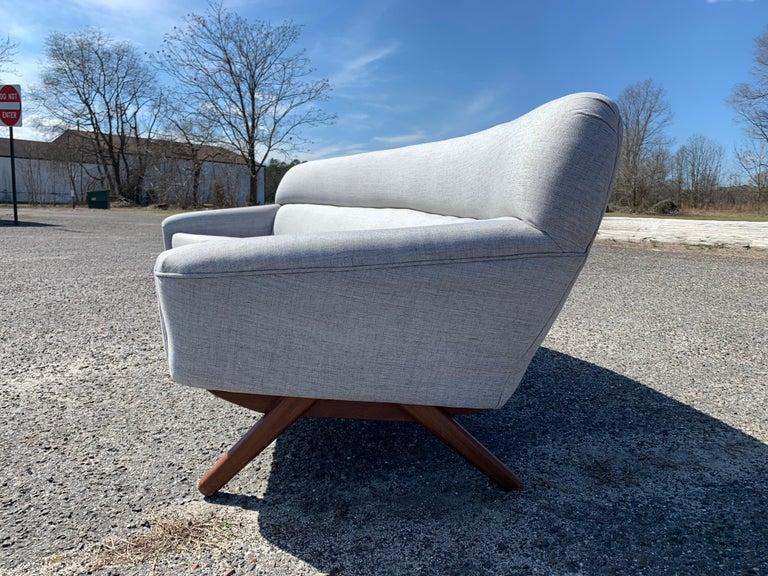 Mid-20th Century Illum Wikkelso-Mikael Laursen 4-Seat Sofa-Denmark, 1960s