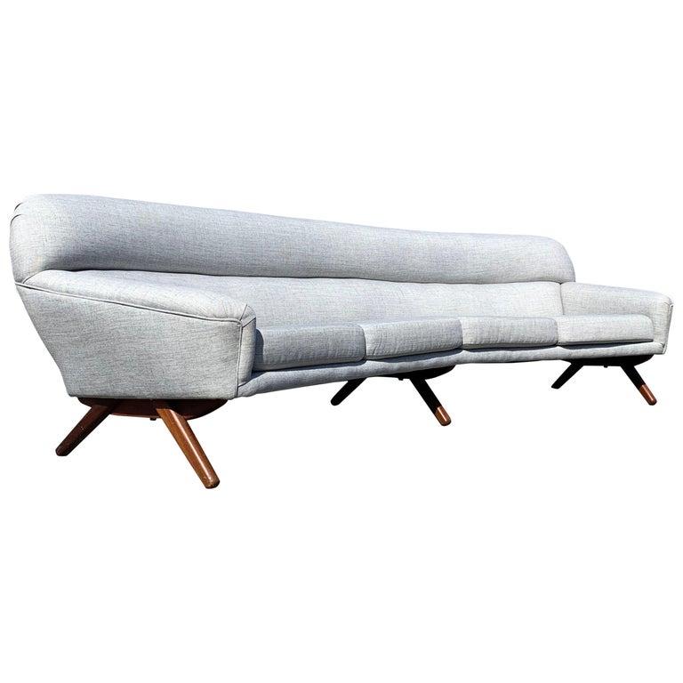 Illum Wikkelso-Mikael Laursen 4-Seat Sofa-Denmark, 1960s
