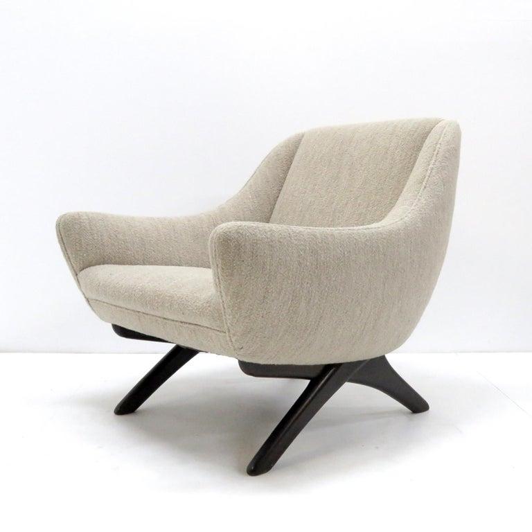 Scandinavian Modern Illum Wikkelso ML-90 Armchair, 1960s For Sale